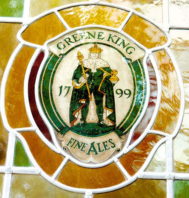 piwo, alkohol, Piwo: królewska pinta w londyńskim pubie, The Greene King. Lokal z firmowym piwem o tej samej nazwie