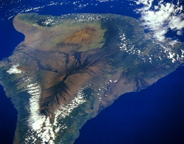 Zdjęcie satelitarne wyspy