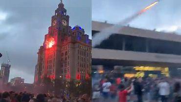 Kibice Liverpoolu podpalili Royal Liver Building