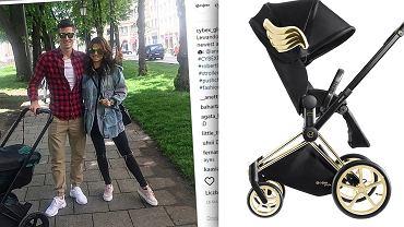 Prawdziwie gwiazdorski wózek małej Klary Lewandowskiej. Kosztował 10 tys. zł, a za jego design odpowiada popularny projektant mody