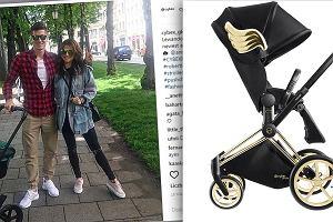 Lewandowscy wożą córkę w wózku gwiazd - podobny ma m.in. Liv Tyler. Znak rozpoznawczy: złote skrzydełka