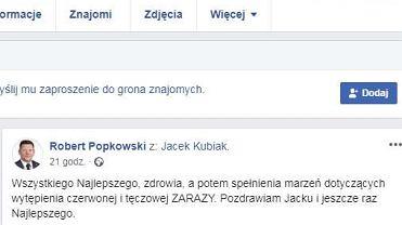 Robert Popkowski i jego życzenia