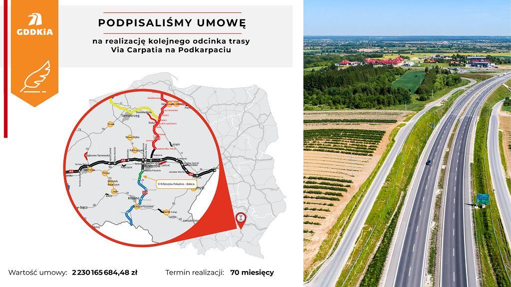 S19 Rzeszów Płd. - Babica, Via Carpatia