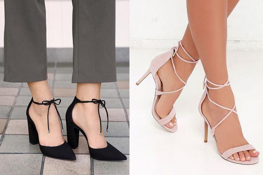 Buty na obcasie dla wąskiej stopy
