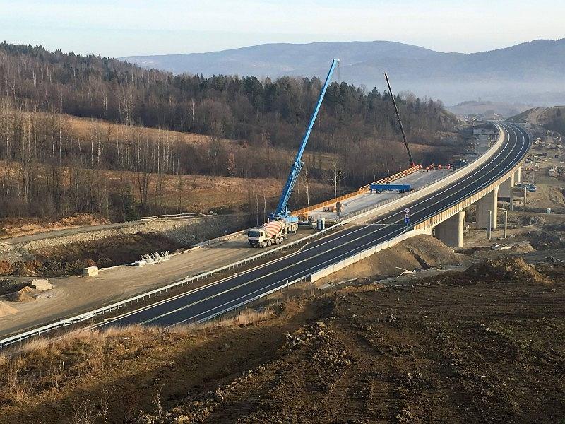 Fragment trasy S7 Lubień-Naprawa