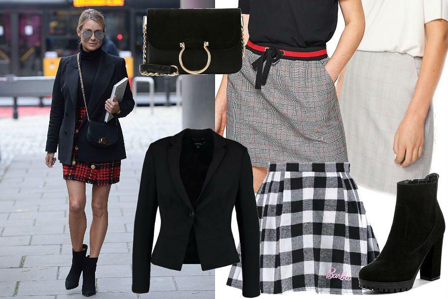 modne spódnice w kratę