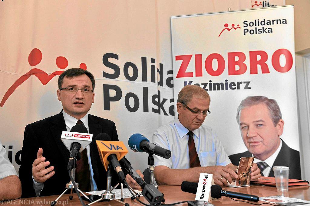 Kazimierz Ziobro i Zbigniew Ziobro z Solidarnej Polski