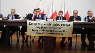Posiedzenie komisji ds. usuwania skutków prawnych decyzji reprywatyzacyjnych dotyczących nieruchomości warszawskich