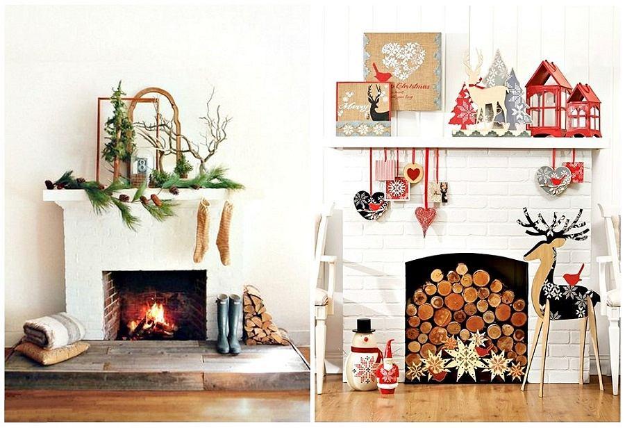 Wystrój świąteczny kominka sprawi, że wszyscy poczujemy magię świąt.