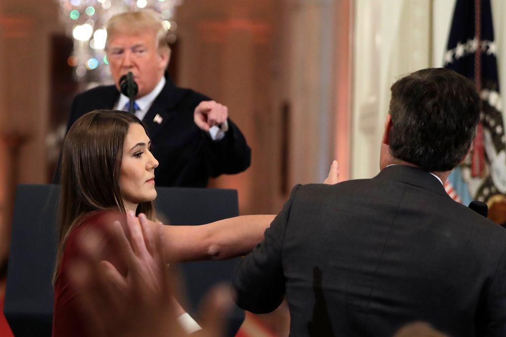 Donald Trump nazwał Jima Acostę 'źle wychowaną, okropną osobą'.