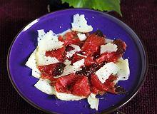 Carpaccio z serem łomnickim i balsamem czereśniowym - ugotuj
