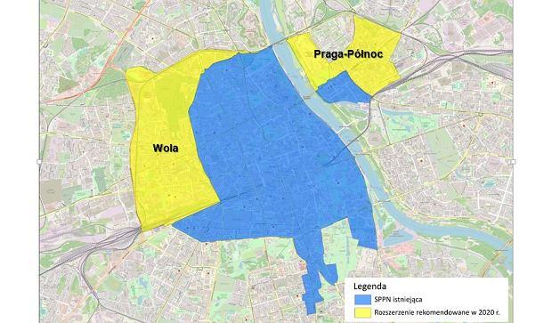 Strefa Płatnego Parkowania Niestrzeżonego, Warszawa