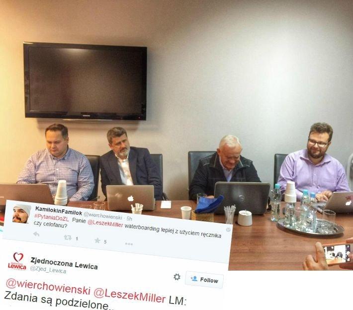 Leszek Miller i Janusz Palikot odpowiadają na Twitterze
