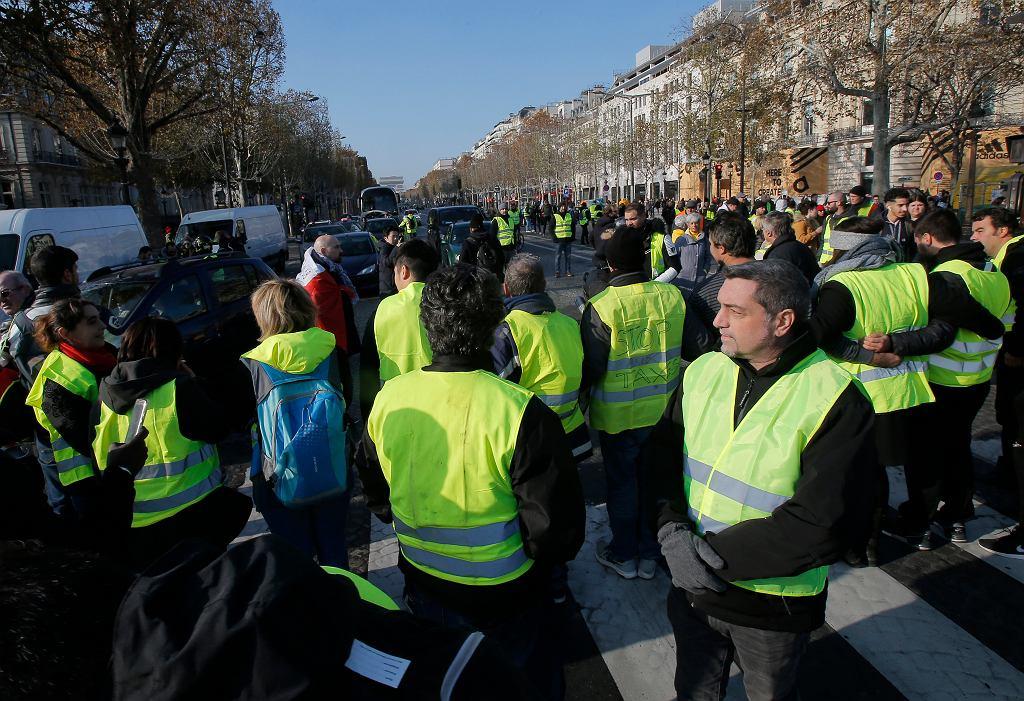 Protesty przeciw cenom paliwa we Francji
