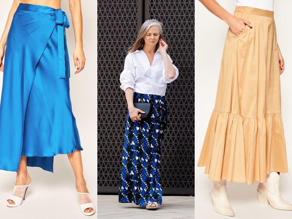 Długie spódnice z wysokim stanem dla kobiet po 50-tce