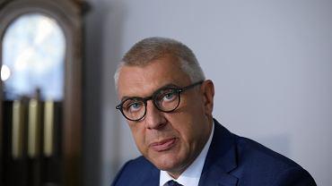 cKonferencja prasowa w Warszawie mecenasow Giertycha i Dubois na temat przyczyny smierci Kosteckiego