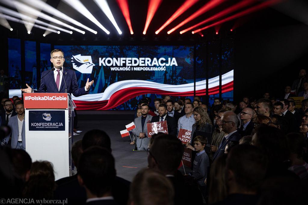 Wybory parlamentarne 2019. Exit poll - wynik Konfederacji (zdjęcie ilustracyjne)