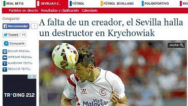 """Screen z serwisu """"Estadio Deportivo"""""""