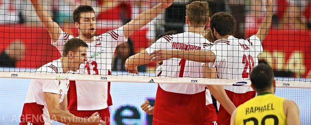 Radość Polaków po meczu z Brazylią