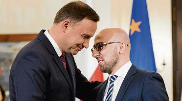 Andrzej Duda i Krzysztof Łapiński