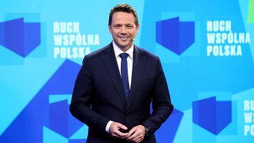 Rafał Trzaskowski w studio telewizyjnym podczas startu ruchu Wspólna Polska, 17.10.2020
