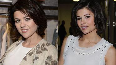 Pierwsze wrażenie bywa mylące! Do zdjęcia po lewej pozuje Katarzyna Cichopek a po prawej Agnieszka Sienkieiwcz. Prawda, że są do siebie łudząco podobne? Zobaczcie inne sobowtóry gwiazd.