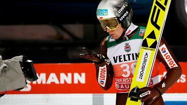 Stefan Hula podczas kwalifikacji. Turniej Czterech Skoczni, Obersdorf, Austria, 29 grudnia 2018
