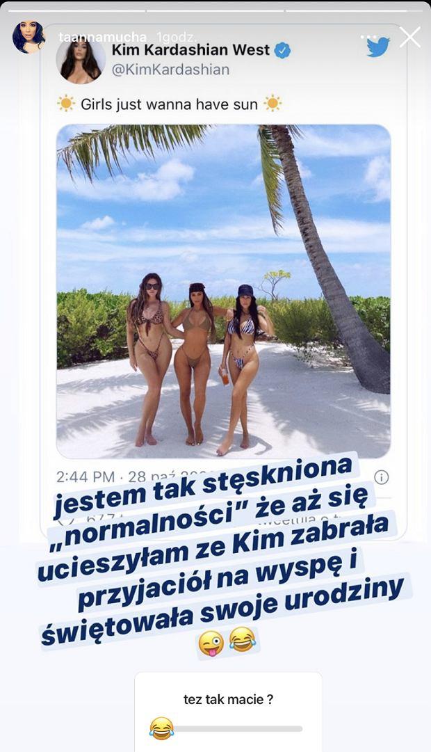 Anna Mucha cieszy się z urodzin Kim Kardashian