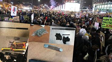Piątkowe protesty w Warszawie