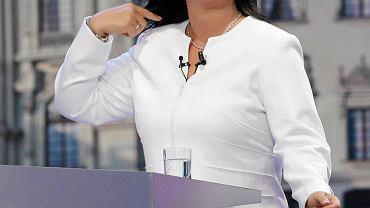 Keiko Fujimori przed telewizyjną debatą z Pedrem Pablem Kuczynskim, 29 maja