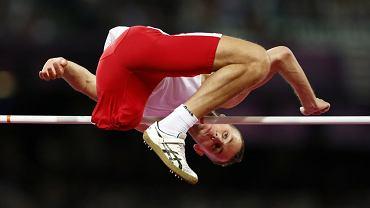 Brązowy medalista igrzysk paraolimpijskich w Londynie 2012 Łukasz Mamczarz podczas konkursu skoku wzwyż
