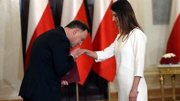 Danuta Dmowska-Andrzejuk, nowa minister sportu podczas zaprzysiężenia w Pałacu Prezydenckim