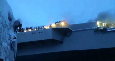 Pożar na lotniskowcu Admirał Kuzniecow