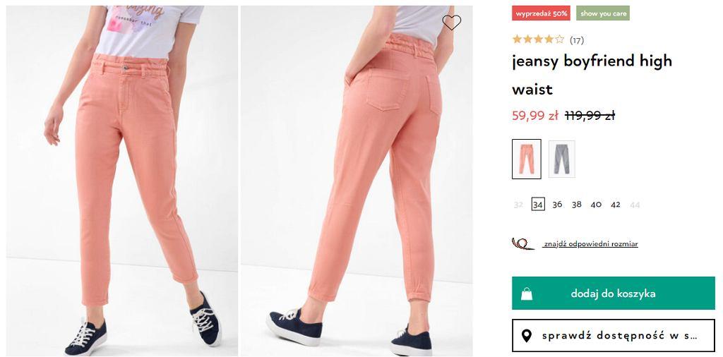 spodnie z wysokim stanem Orsay