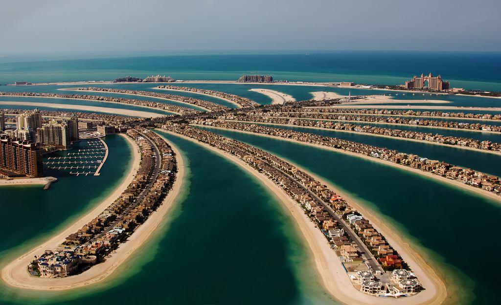 Dubaj, sztuczna wyspa w kształcie palmy