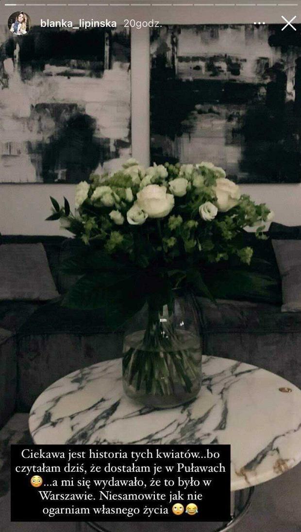 Kwiaty dla Blanki Lipińskiej