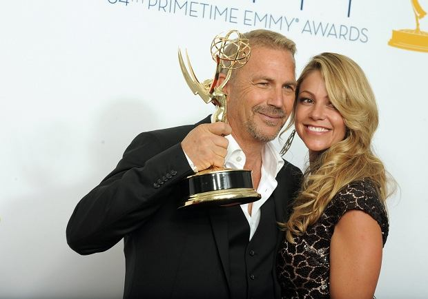 Actor Kevin Costner, winner of the Emmy for Outstanding Lead Actor In A Miniseries or Movie for