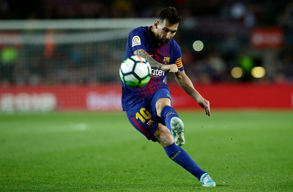Leo Messi w meczu Barcelona - Eibar