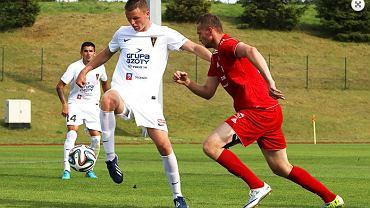 Mateusz Matras w meczu z Bytovią