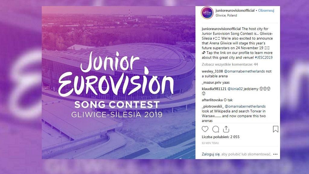 Eurowizja Junior 2019 odbędzie się w Gliwicach