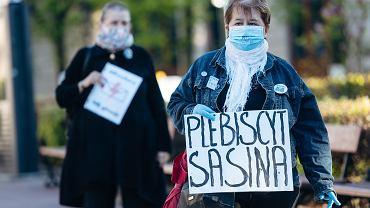 Protest przeciwko wyborom kopertowym