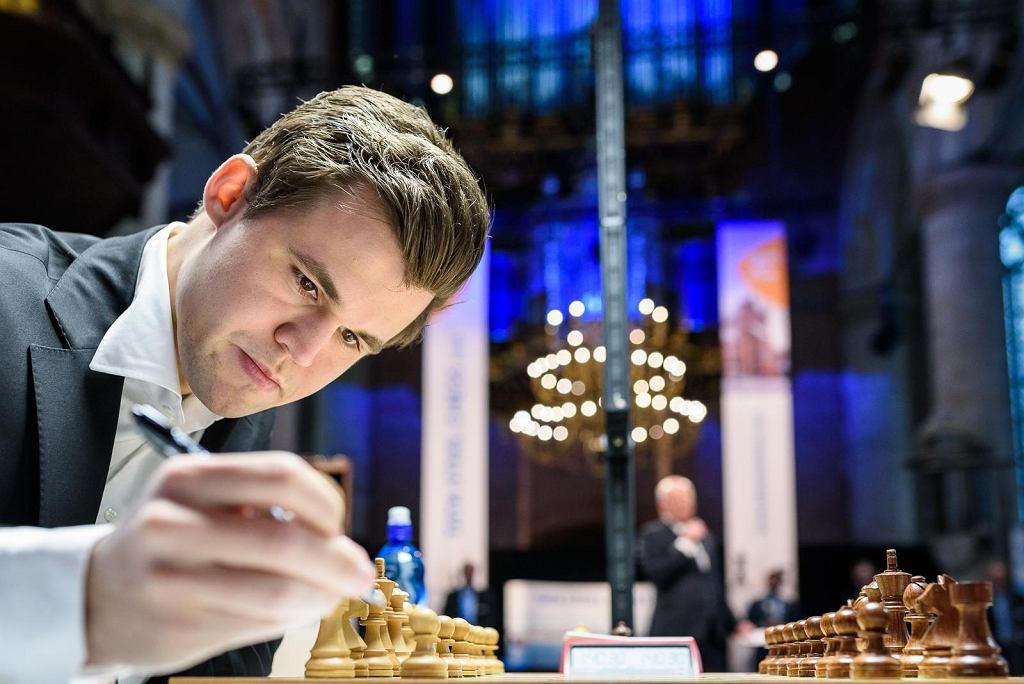 Magnus Carlsen na turnieju Tata Steel Chess
