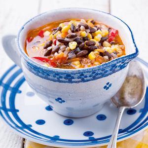 Zupa czerwoną fasolą i z pęczakiem