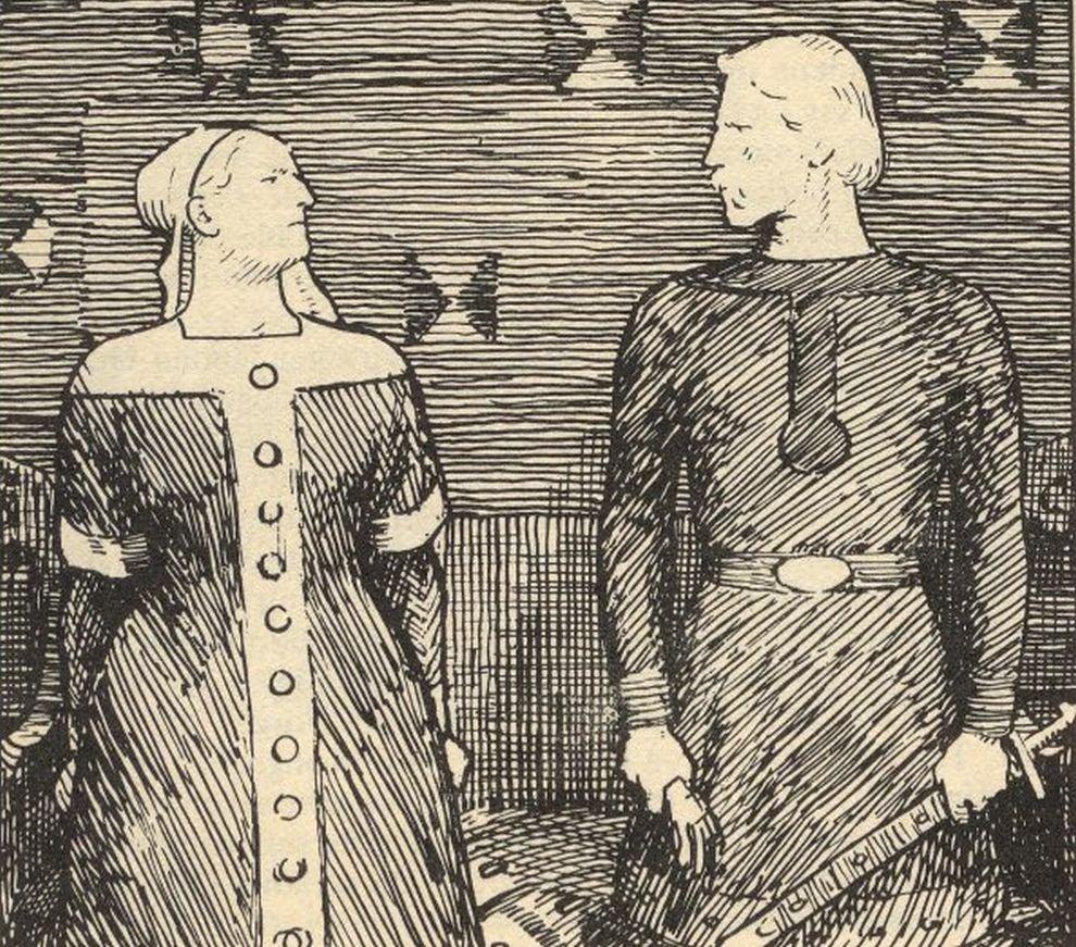 Sygryda Storrada (Świętosława) i Olaf Tryggvason