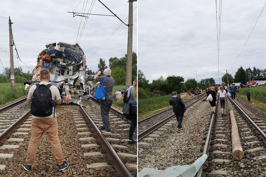 Ciężarówka wjechała pod pociąg w Zachodniopomorskiem
