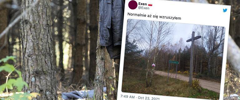 Podlasie. Mieszkańcy zostawiają migrantom pakunki na drzewach