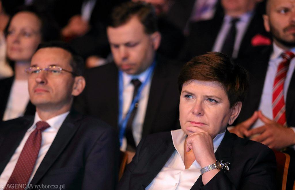 Premier Beata Szydło i wicepremier Mateusz Morawiecki.