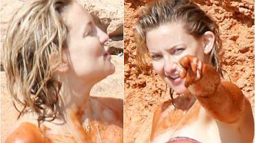 Kate Hudson to posiadaczka jednego z najlepszych ciał Hollywoodu. 37-letnia aktorka jest świadoma swoich idealnych kształtów i chętnie eksponuje je w bikini podczas wyjątkowo częstych wypadów na plażę. Ostatnio paparazzi przyłapali ją w Ibizie, gdzie z przyjaciółkami zażywała kąpieli błotnych podczas wakacyjnego dziewczyńskiego wypadu.