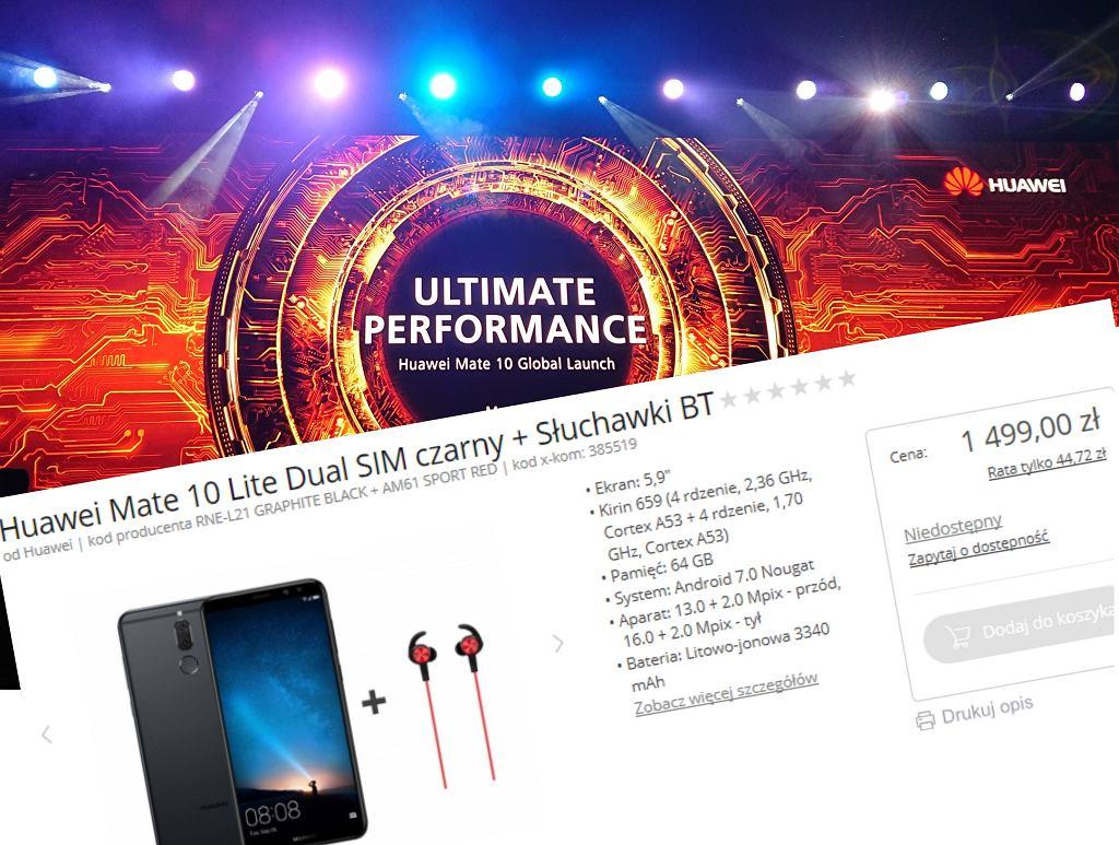 Huawei Mate 10 Lite pojawił się w polskim sklepie jeszcze przed premierą