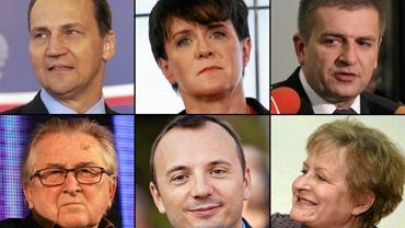 Na zdjęciu: Radosław Sikorski, Joanna Kluzik-Rostkowska, Bartosz Arłukowicz, Kazimierz Kutz, Łukasz Gibała i Zyta Gilowska